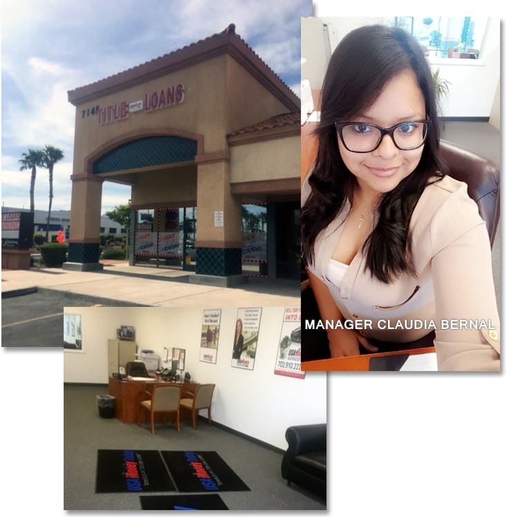 USA Money Today North Las Vegas Title Loan Location Manager, Claudia B.