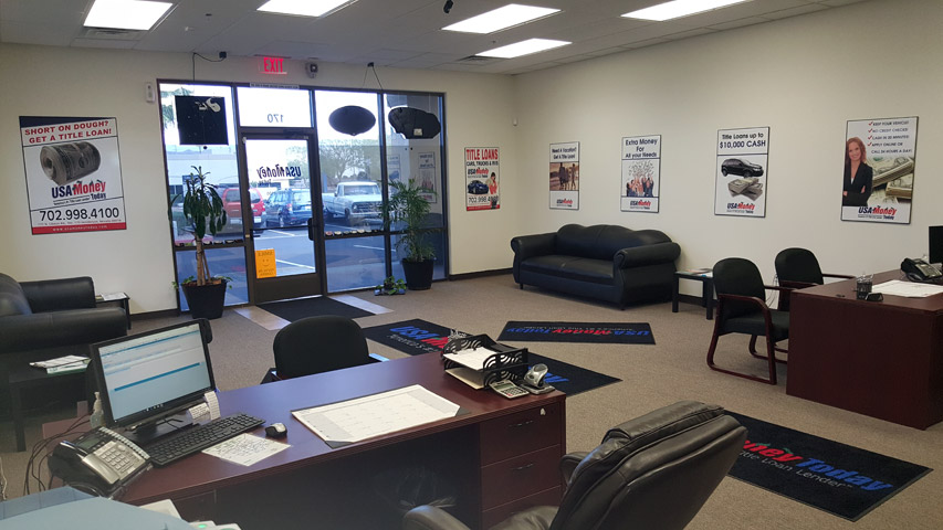 USA Money Today Title Loans Henderson, Nevada location picture of the interior