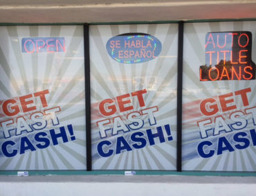 USA Money Today Title Loan Store in West Las Vegas exterior signage