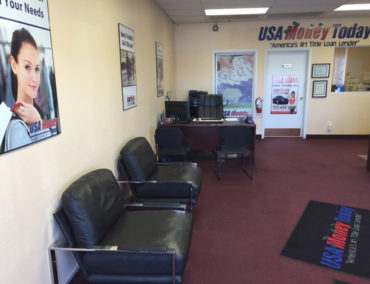 USA Money Today Title Loan location in West Las Vegas inside picture