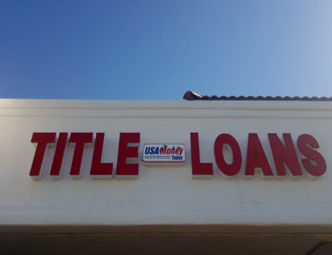 USA Money Today Title Loan company in West Las Vegas main sign 2
