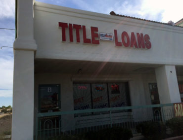 USA Money Today Title Loan Store in West Las Vegas main sign