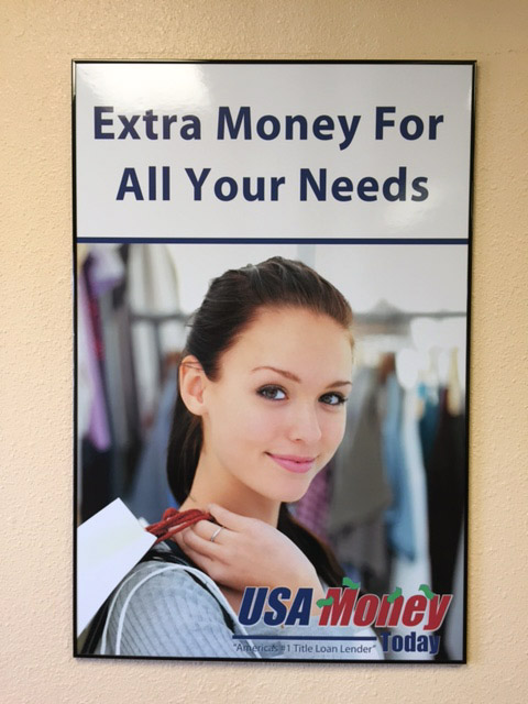 USA Money Today Title Loan Company in West Las Vegas poster