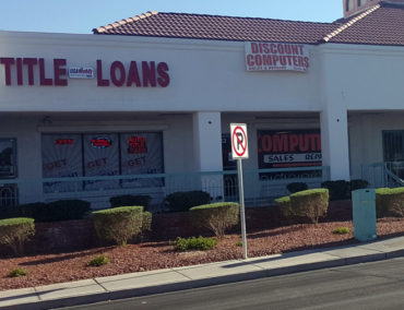 USA Money Today Title Loan Store in West Las Vegas storefront