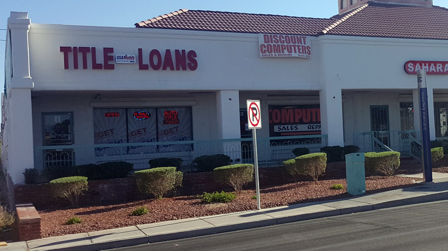 USA Money Today Title Loan Company in West Las Vegas storefront