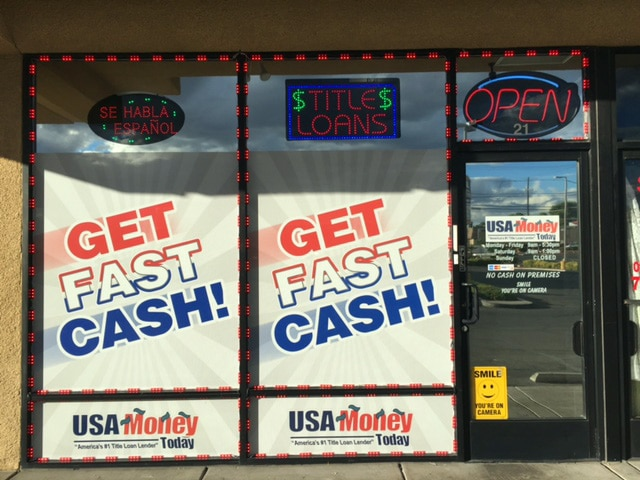 USA Money Today Title Loans East Las Vegas location exterior picture