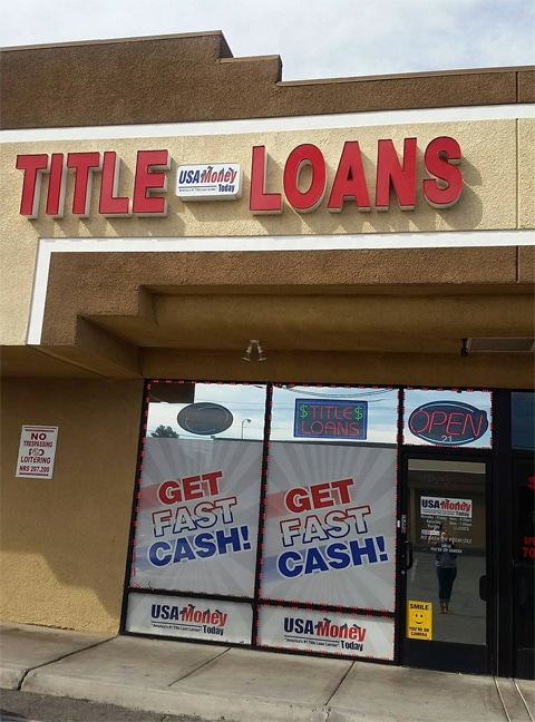 USA Money Today Title Loans East Las Vegas location exterior