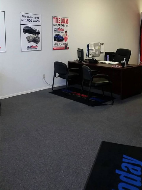 USA Money Today Title Loans East Las Vegas location interior picture