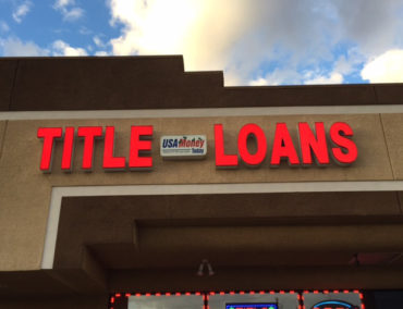 USA Money Today Title Loans East Las Vegas location main exterior sign