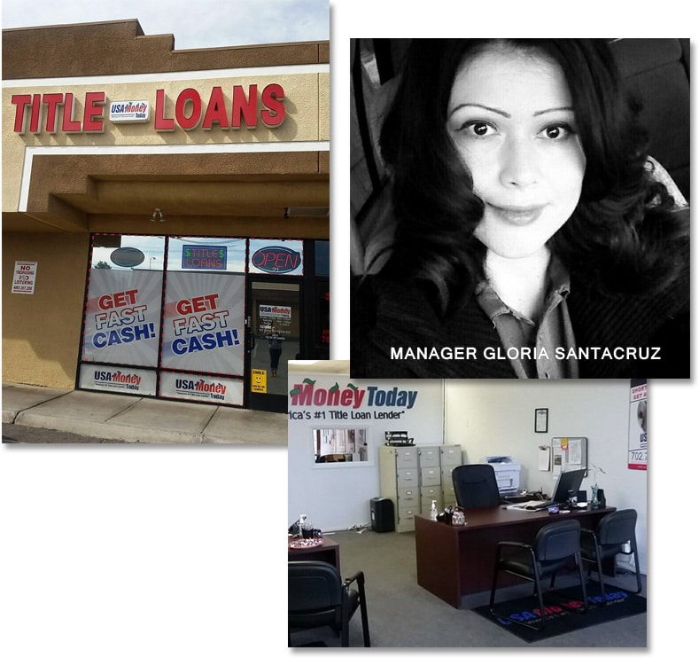 USA Today Title Loans East Las Vegas location picture collage