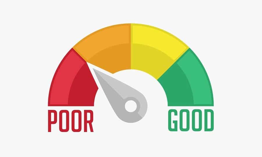 poor to good credit rating gauge